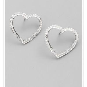 ❤️Silver Heart Stud Earrings